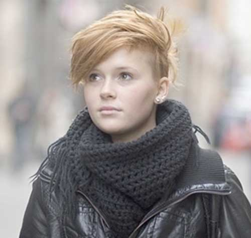 Short Dramatic Ginger Hair