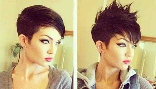 Short Dark Spiked Mohawk