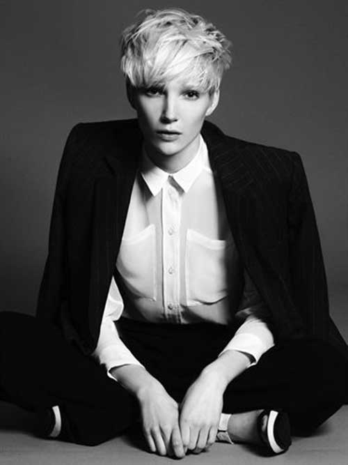 Pixie Cropped Long on Top Hair Cut