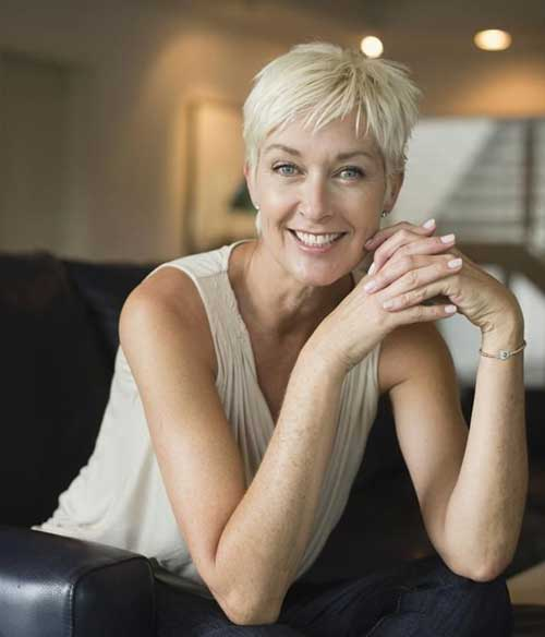 Nice Hair Pixie for Over 50 Women