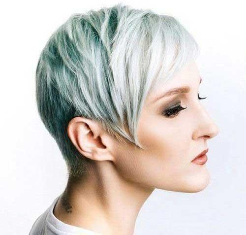 Pixie Cut for Thin White Hair