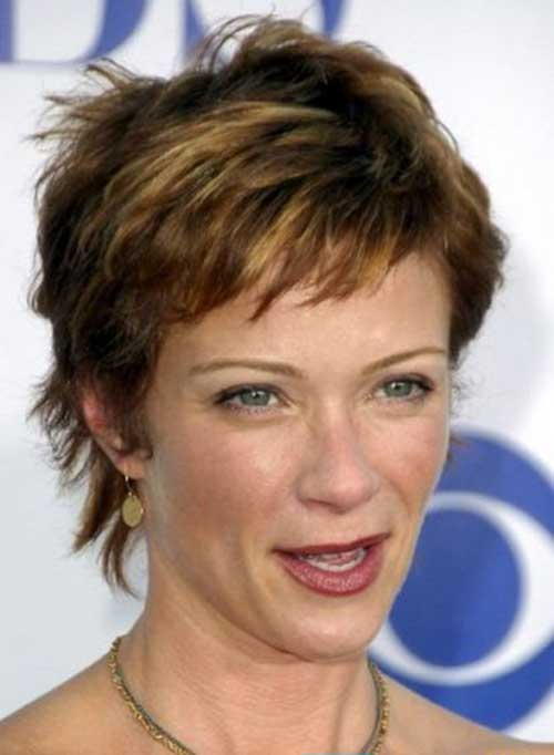 Shaggy Pixie Haircuts for Over 50 Women