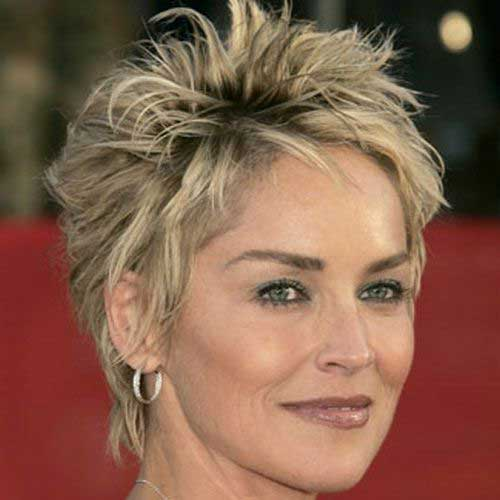 Sharon Stone Pixie Haircuts for Over 50 Women