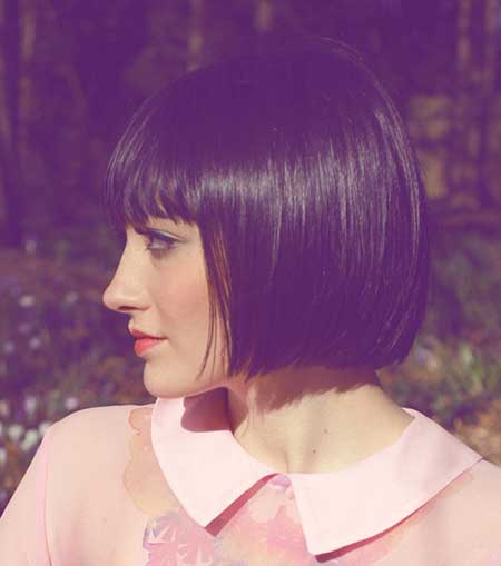 Simple Elegant Straight Thin Bangs