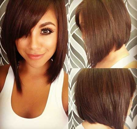 One Sided Straight Bangs