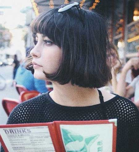 Thick Dark Vintage Bangs