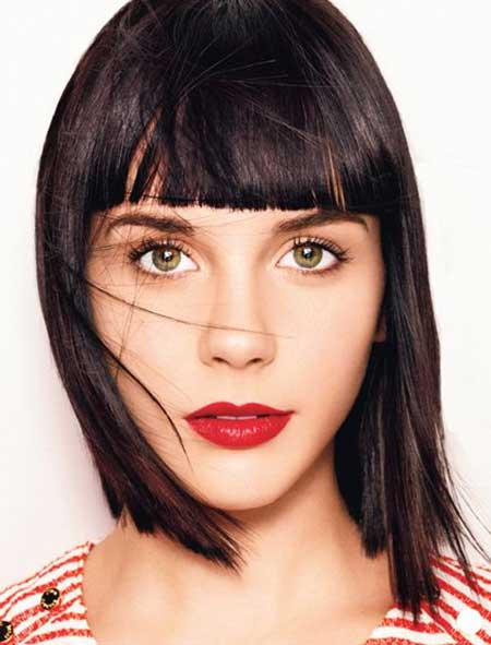 Straight Line Gorgeous Bangs