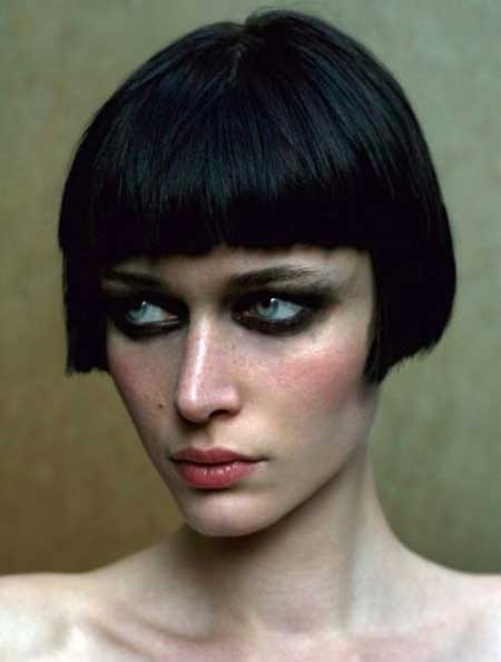 Short Fantastic Dark Bangs