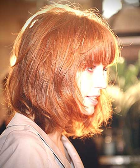 Ginger Gorgeous Simple Short Bangs