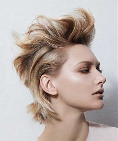 Messy Updos For Thin Hair: 25 Messy Hairstyles For Short Hair