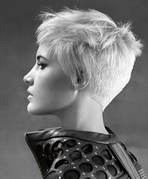 Side View Pixie Crop Hairstyle