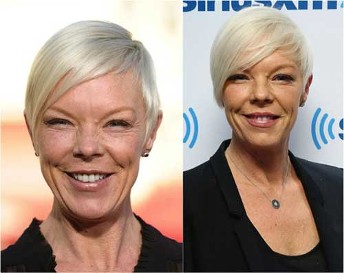 Straight Pixie Haircut for Over 50 Women
