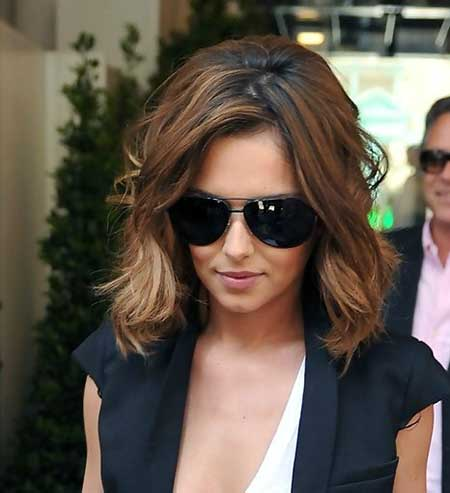 Wavy Interesting Brown Bob