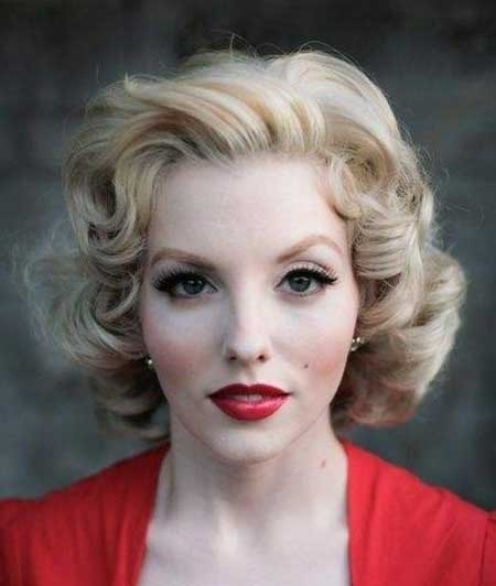 Sexy Blonde Vintage Curls