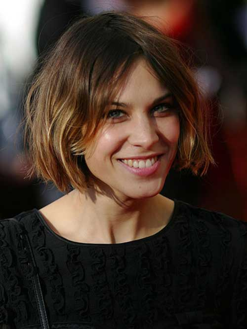 Alexa Chung Celebrity Choppy Hair