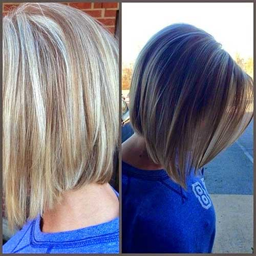 Stylish Straight Bobs Hairstyles Back Views