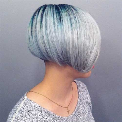 Brassy to White Easy Bob Hairstyle for Women
