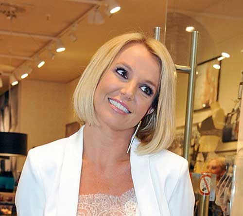 Britney Spears Easy Bob Hairstyles for Women