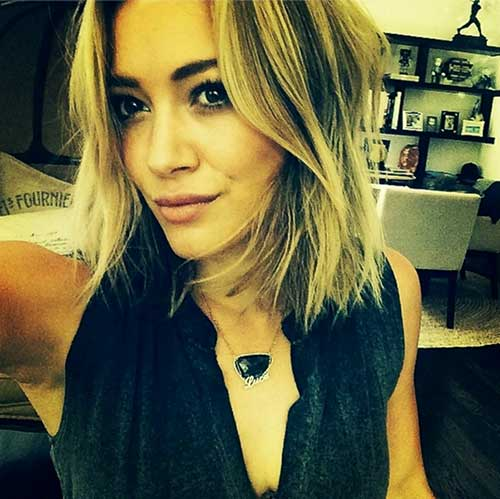 Hilary Duff's Choppy Short Hairstyles 2014 Trends