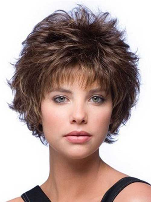 Cute Curly Mixed Layered Short Hairstyle