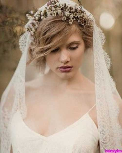 Cute Short Messy Wedding Hairstyles