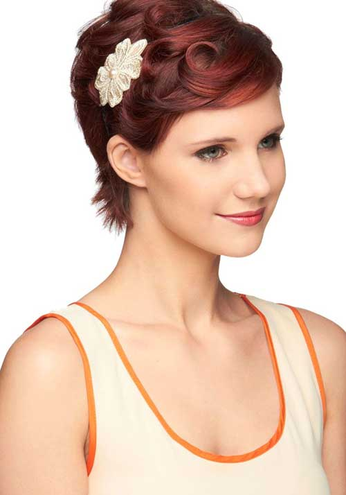 Short Red Bridal Hairstyles