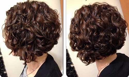 Dark Curly Whirly Hairstyle