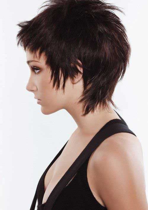 Cool Dark Pixie Haircut with Layers