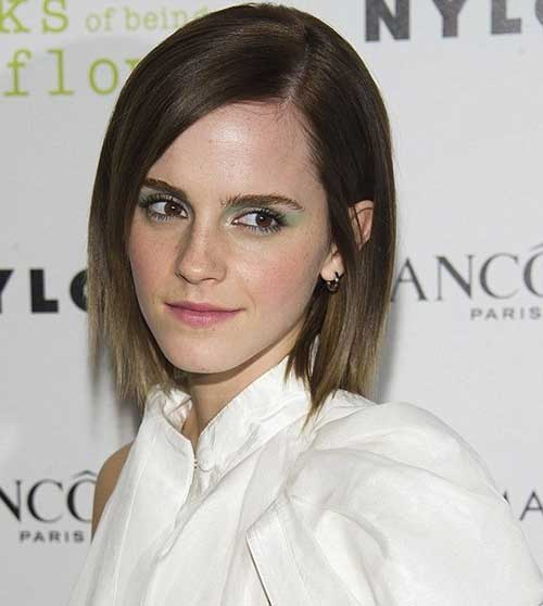 Emma Watson Straight Bob Hairstyles