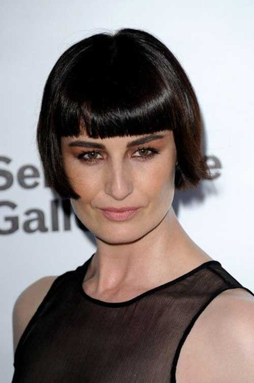 Erin O'Connor with Different Hairstyles