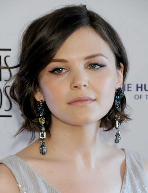 Ginnifer Goodwin Short Dark Hair Cut