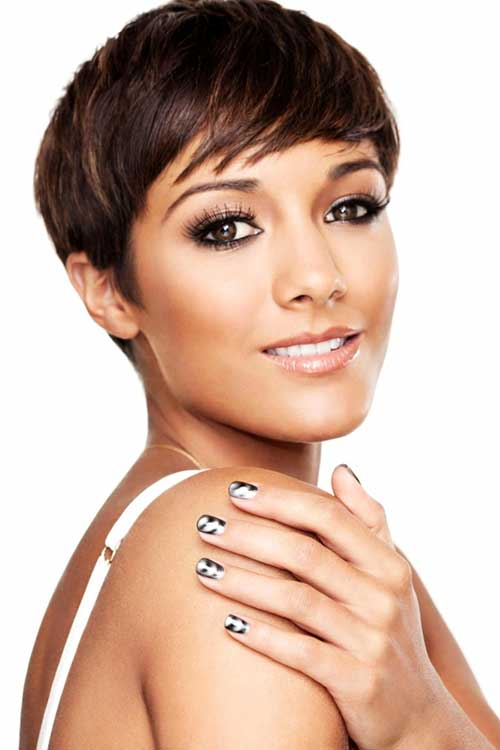 Frankie Sandford Short Pixies Haircuts