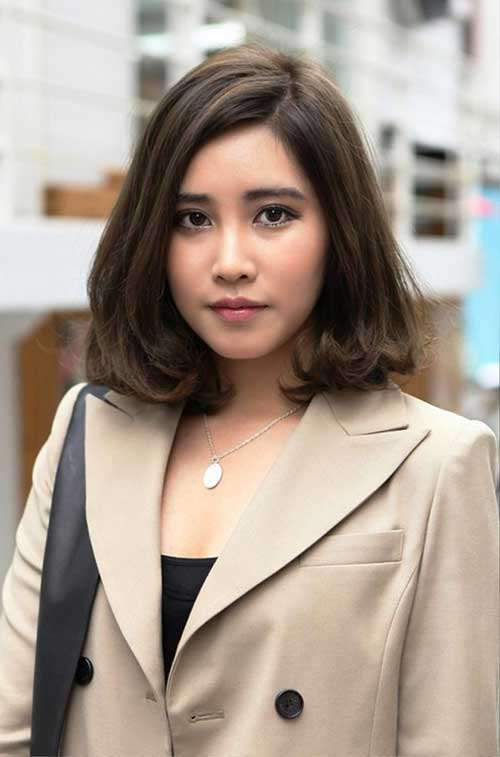 Japanese Brown Hairstyle for Short to Medium Hair