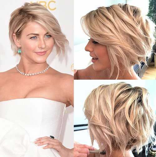 Julianne Hough Short Blonde Wedding Hair