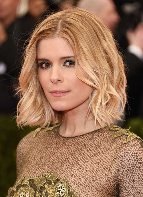 Kate Mara Short Blonde Bob Hair