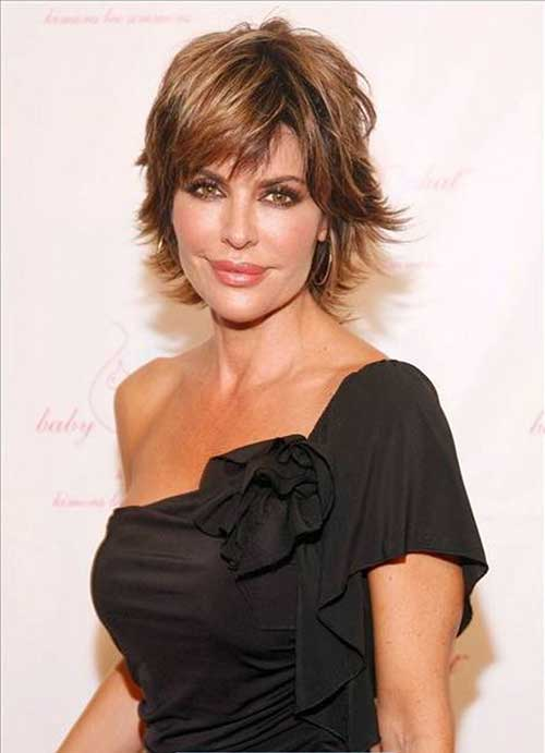 Lisa Rinna Layered Hairstyles 2015