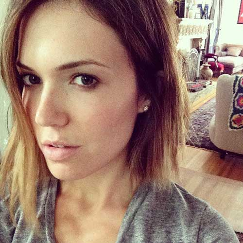 Mandy Moore Choppy Bob Hair