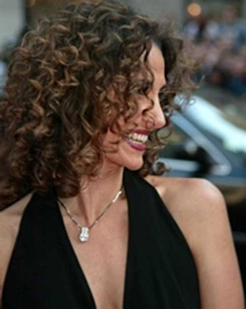 Melina Kanakaredes Curly Hairstyle