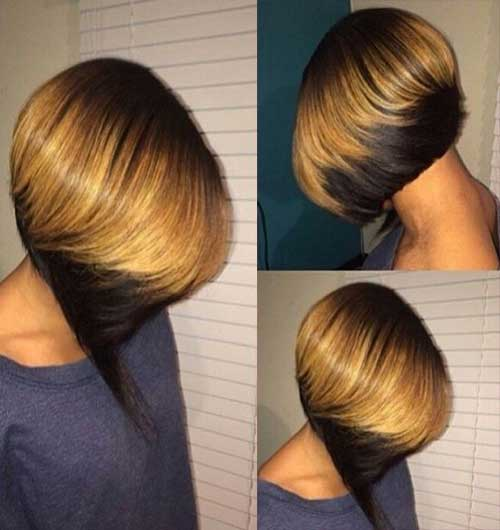 Colored Tips Bob Hair