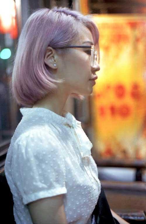 Pink Pastel Bob Hairstyle