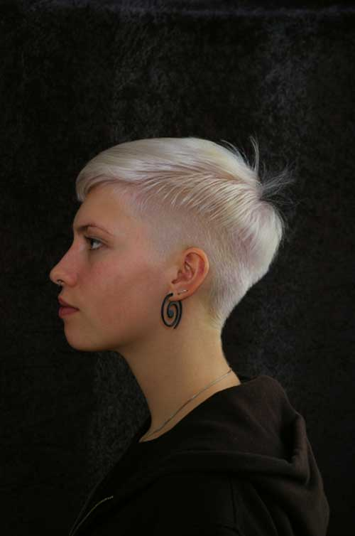 Pixie Cut Undercut for Girl Hair
