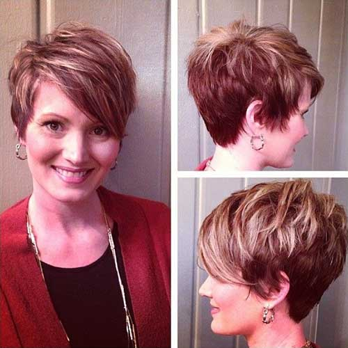 Layered Pixie Cuts for Round Faces