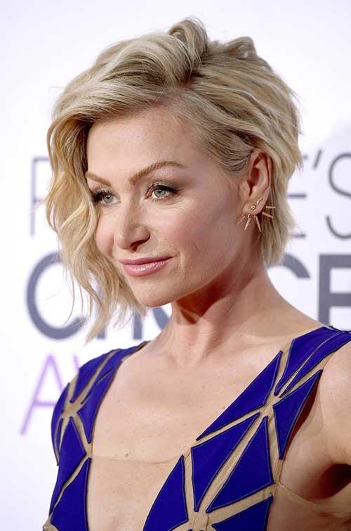 Portia De Rossi Wavy Celebrity Bob Hairstyle