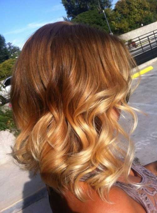 Pretty Short to Medium Ombre Hair