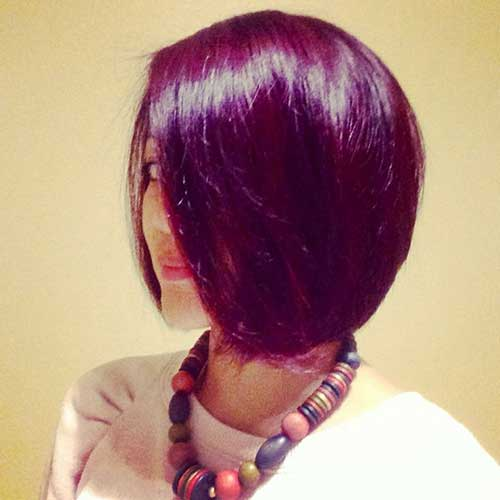 Red-Violet Hairstyle