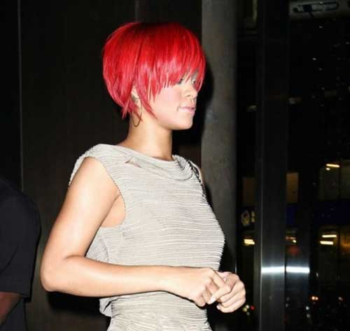 Rihanna Red Hair Short