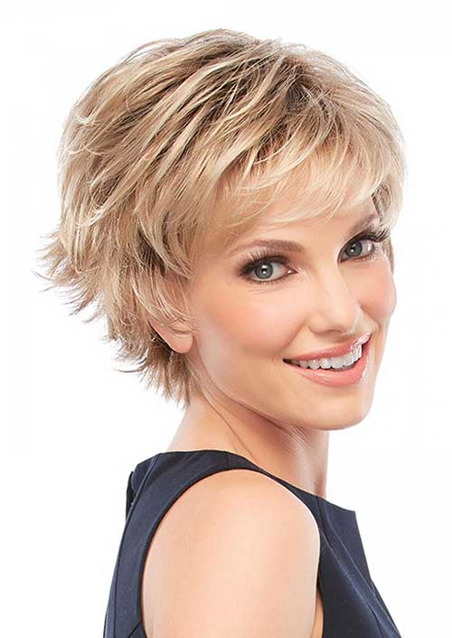Shag Blonde Layered Hairstyle 2015