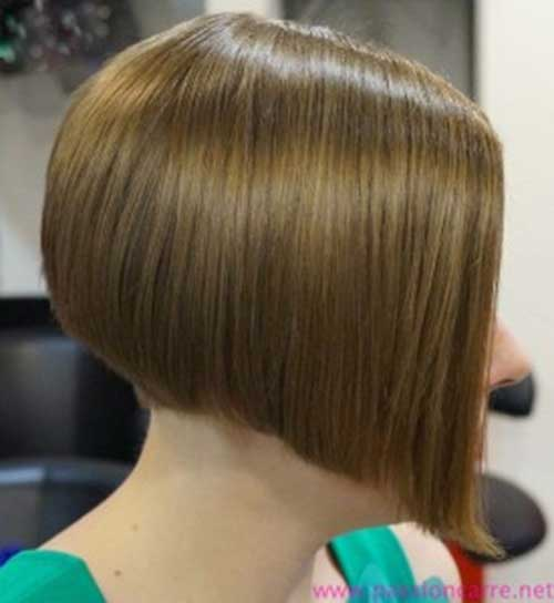 Asymmetric Sleek Bob Hair Style