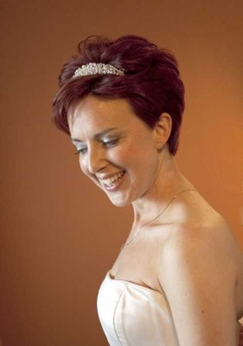 Extremely Short Red Hair for Brides