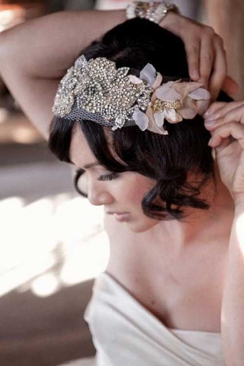 Curly Short Bridal Dark Haircuts